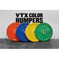 Bumper Barra Crossfit Disco Halterofilia 10,25,35,45 Lb Gym