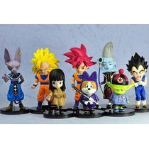 Set 8 Figuras Coleccionables Dragon Ball Super Goku Vegeta