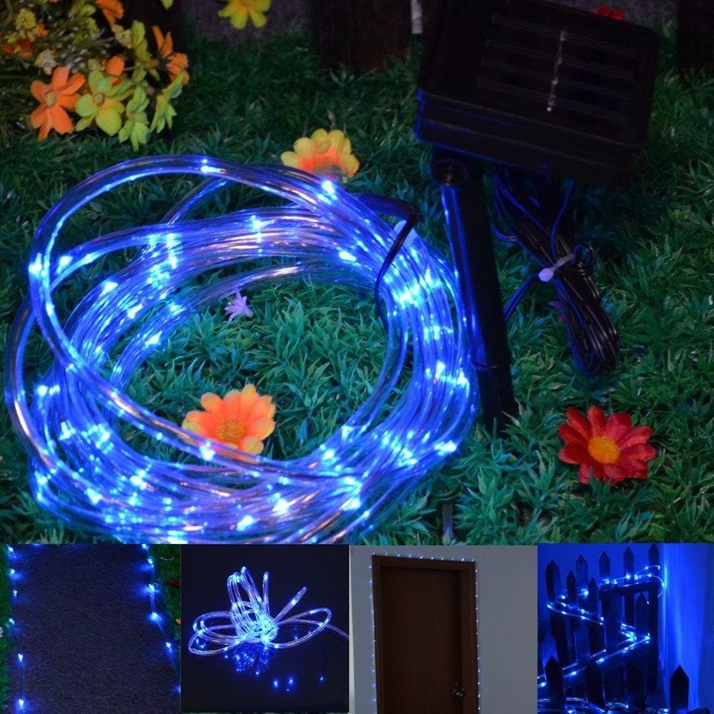 Manguera de 50 luces led solares navidad colores - Luces led de colores ...