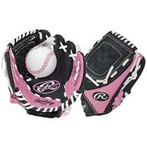 Nuevo 2015 Rawlings Girls Pink T-ball Guante (edades 6 Y Aba
