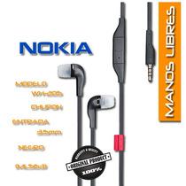 Manos Libres Audífono Nokia Wh-701 Originales C/ Control