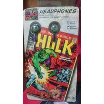 Hulk Audífonos Para Iphone Y Ipod Marvel Marca Ihip Nuevos
