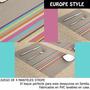 *fashionstore* Juego 4 Manteles Stripe Gris Estilo Europeo