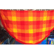 Mantel Redondo 2m Diámetro Artesanal Mexicano