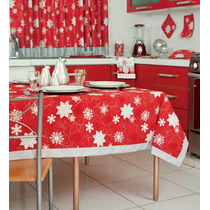 Mantel Rectangular Copos Navideño Navidad Vianney Vianey Hm4