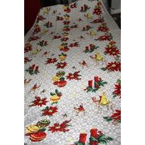 Mantel Con Decoracion Navideña 4.52 X 1.52