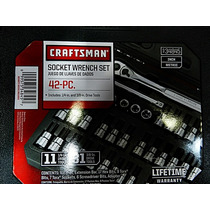 Set De 42 Piezas Craftman 1/4 Y 3/8 Envio Gratis