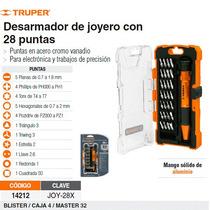 Juego De Desarmador De Joyero Con 28 Puntas