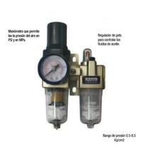 Filtro Regulador Y Lubricador De Aire Urrea Upwl4 Mn4