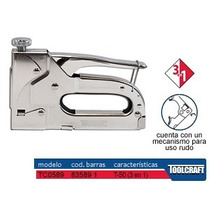 Grapadora Engrapadora Toolcraft T50 Con Grapas P/cable Maa