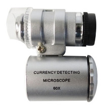 Microscopio Mini 60 X Ajustable Con Led+uv