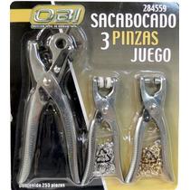 Set De Sacabocados, Ojilladora Y Pinza Para Botones Vv4
