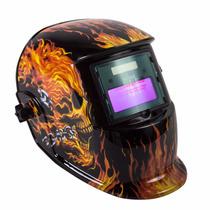 Careta Electrónica Oakland Con Acabados De Fuego Envío Grati