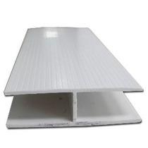 Conector De Pvc Blanco 13 Mm Para Cartón Estructural Tipo H