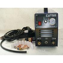 Máquina Plasma 50a - Corta 18mm Con 90 Consumibles Iniciales