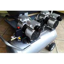 Compresor Para Aire Silencioso 2.5 Hp. 120 Litros 4 Pistones