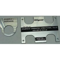 Placas Etiquetas P/maquinaria Industrial Inventario A. Fijo