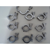 Abrazaderas Clamp Sanitarias Inoxidable 304 38mm.