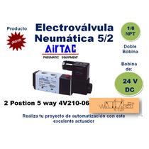 Electrovalvula Airtac 5/2 Puertos 1/8 Festo Smc Neumatico