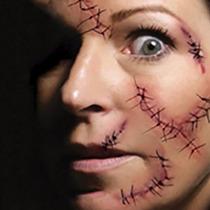 Tatuajes Temporales De Halloween Disfraz Cicatriz Fiesta