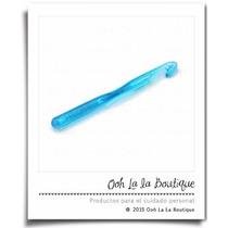 Gancho Grueso Crochet Trapillo Plástico Azul Tejer #242