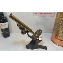 Antiguo Microscopio Científico, Inglés, De Colección