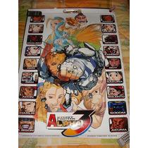 Street Figther Alpha 3 Poster Original De Capcom Neo Geo