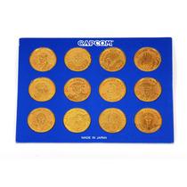 Street Fighter 12 Monedas De Capcom Originales De Colección