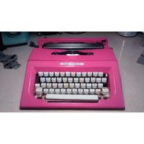 Maquina De Escribir Olivetti Lettera 25 Rosa