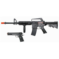 Combo Marcadora Airsoft Spring Colt M4 A11 Bbs Xtreme