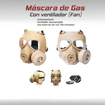 Mask Mascara Gas Militar Ventilador Gotcha Paintball Airsoft