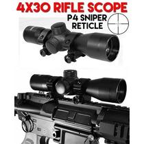 Mira Telescopica 4x30 Reticula P4 Sniper Marcadora Xtreme