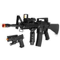 Marcadora Colt M4 Airsoft Electrica Y Colt 1911 Pistol Kit!
