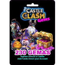 Tarjeta Gift Card Castle Clash 230 Gemas Android Ios Windows