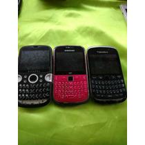 Lote De 3 Telefonos Qwerty Bberry Samsung Alcatel Partes