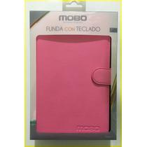 Funda Con Teclado Para Tablet Mobo Original Rosa Universal