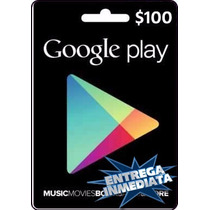 Tarjeta Gift Card Google Play $100 Usd Juegos Apps Android