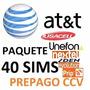 Chip Sims At&t: Unefon,nextel,iusacell;prip- 40 Sims $10xpza