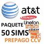 Chip Sims At&t: Unefon,nextel,iusacell;prip- 50 Sims $10xpza
