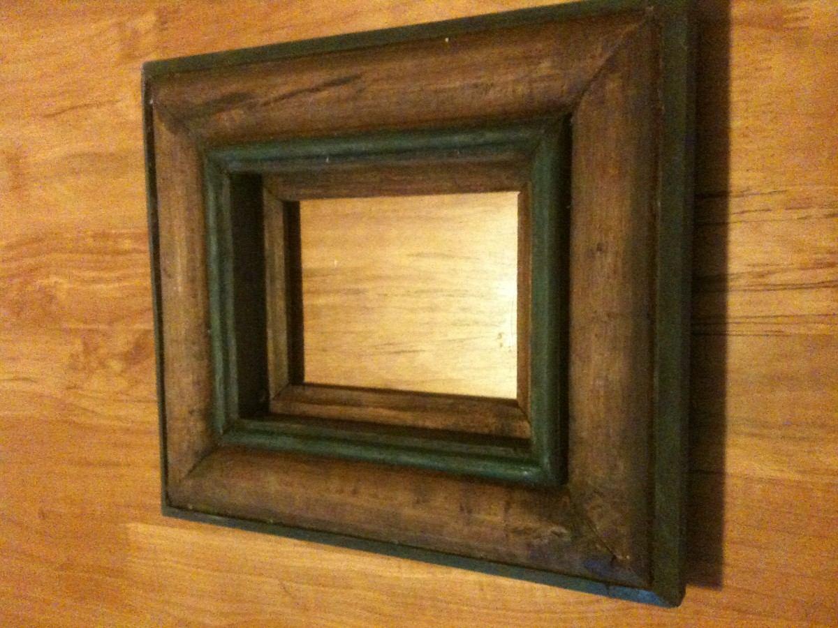Marco de madera para fotografia o espejo en for Disenos de marcos de madera para espejos