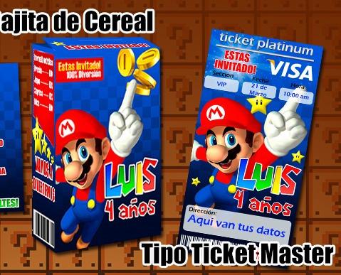 Invitaciónes De Mario Bros Para Editar E Imprimir Imagui