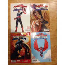 All New Capitán América #1 Juego De 4 Portadas En Español