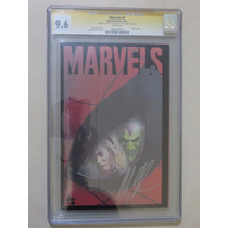 Marvels # 4 Cgc Autografiado Alex Ross Certificado