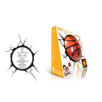 Lampara De Pared En 3d , Basketball 3d