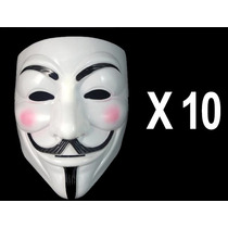 10 Mascaras V De Vendetta, Anonymous V De Venganza Halloween