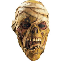 Mascara De Vinil Momia Gritando. Disfraz Halloween