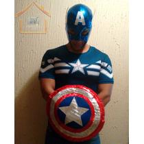 Mascara Y Escudo Capitán América,disfraz Halloween,fiesta.