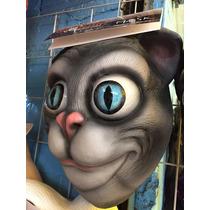 Máscara De Látex De Gato Halloween O Disfraz Nueva