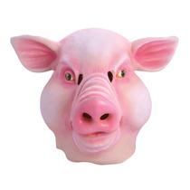Máscara De Cerdo - Caucho De Arriba Del Vestido De Lujo Adu