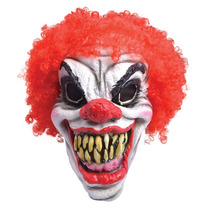 Horror Adulto Máscara Payaso Foam Con Red Afro Pelo De Hall